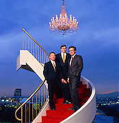 Universal Executive Vice Presidents Sandy Climan (L) Howard Weitzman (M) and Bruce Hack when they were building Universal brand.