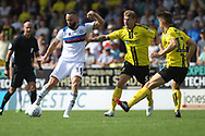 Aaron Wilbraham shoots during the EFL Sky Bet League 1 match between Burton Albion and Rochdale at the Pirelli Stadium, Burton upon Trent, England on 4 August 2018.