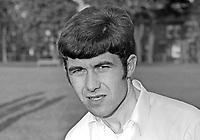 Dennis Guy, footballer, Glentoran FC, Belfast, N Ireland. May 1969, 196905000184a<br /> <br /> <br /> Copyright Image from<br /> Victor Patterson<br /> 54 Dorchester Park<br /> Belfast, N Ireland, UK, <br /> BT9 6RJ<br /> <br /> t1: +44 28 90661296<br /> t2: +44 28 90022446<br /> m: +44 7802 353836<br /> e1: victorpatterson@me.com<br /> e2: victorpatterson@gmail.com<br /> <br /> www.victorpatterson.com