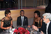 November 3, 2012- New York, NY: (L-R) Desiree Rogers, CEO,  Johnson Publishing Company, Civil Rights Activist/On-Air Personality Rev. Dr. Al Sharpton (Honoree), Mellody Hobson (Honoree), President, Ariell Investments and Director/Producer George Lucas at the EBONY Power 100 Gala Presented by Nationwide held at Jazz at Lincoln Center on November 3, 2012 in New York City. The EBONY Power 100 Gala Presented by Nationwide salutes the country's most influential African Americans.(Terrence Jennings) .