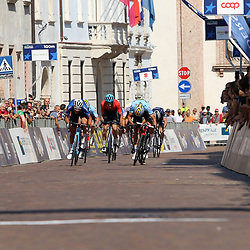 TRENTO (ITA): CYCLING: SEPTEMBER 11th: <br />Thibaut Nijs (Belgium) takes the European title in the riders under 23 in Trento. The silver went to the Italian Fillipo Baroncini, the bronze was for the Spanish Juan Ayuso.