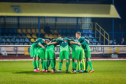 Slovenian players during football match between Slovenia and France in Qualifying round for European Under-21 Championship 2019, on November 13, 2017 in Sportni park, Domzale, Slovenia.  Photo by Ziga Zupan / Sportida