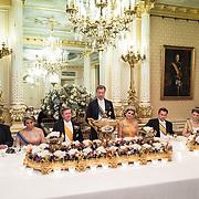 LUX/Luxemburg/20180523 - Staatsbezoek Luxemburg dag 1 , Koningin Maxima en Koning Willem Alexander, Groothertog Henri en Groothertogin Maria Teresa tijdens het Staatsbanket