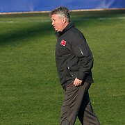 Turkey's national soccer team coach Guus HIDDINK during their a training session in Istanbul March 25, 2011. Turkey will face Austria in the UEFA Euro 2012 qualification soccer match on 29 March 2011.  Photo by TURKPIX