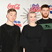 Luke Patterson,Grace Chatto and Jack Patterson arrives at Capital's Jingle Bell Ball with Coca-Cola at London's O2 Arena on 9th December 2018, London, UK.