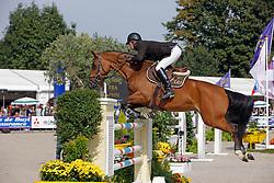 Boulanger Clément - Osibelle de Baussy<br /> World Championship Young Horses Lanaken 2008<br /> Photo Copyright Hippo Foto