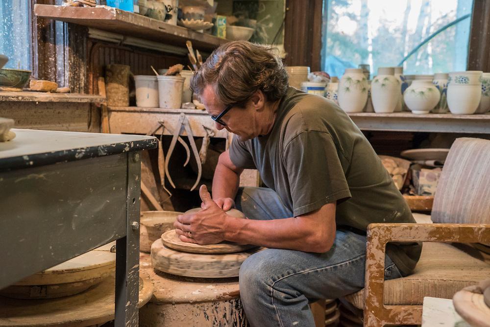 Artist Mike Horton in Marquette, Michigan
