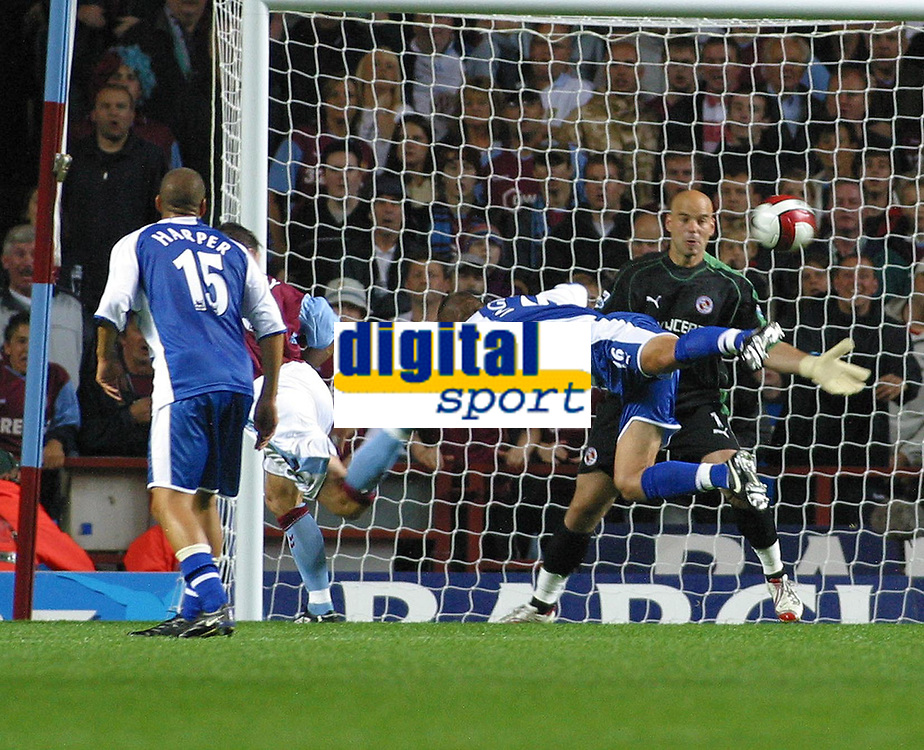 Photo: Dave Linney.<br />Aston Villa v Reading. The Barclays Premiership. 23/08/2006Aston Villa's .Gareth Barry (behind No 15) makes it 2-1