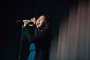 Katrina Apiado performs during the Milpitas High School Talent Show at Milpitas High School in Milpitas, California, on February 5, 2016. (Stan Olszewski/SOSKIphoto)