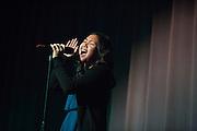 Katrina Apiado performs during the Milpitas High School Talent Show at Milpitas High School in Milpitas, California, on February 5, 2016. (Stan Olszewski/SOSKIphoto)