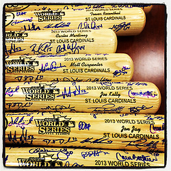 St. Louis Cardinals World Series bats,  2013