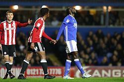 Birmingham City's Cheikh Ndoye reacts