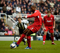 Photo: Jed Wee.<br /> Newcastle United v Liverpool. The Barclays Premiership. 19/03/2006.<br /> <br /> Liverpool's Djibril Cisse scores from the penalty spot.