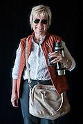 Javier Calvelo/ URUGUAY/ MONTEVIDEO/ FOTOGRAFIA/ Expoprado - Exposicion Rural del Prado de Montevideo/ Proyecto documental sobre la identidad, lo nacional, lo Uruguayo. Se trata de retratos simples mirando a camara y con un fondo neutro. Les pregunto a los fotografiados como quieren ser recordados en el futuro y de que localidad del Uruguay son.<br /> El titulo esta basado en la obra de Raymond Firth, Tipos Humanos. (Raymond William Firth, ( 1901-2002) fue un etnólogo neozelandés profesor de Antropología en la London School of Economics, es uno de los fundadores de la antropología económica británica). <br /> En la foto:  Tipos Humanos en Expoprado, Nicole Hareau, Mercedes. Foto: Javier Calvelo<br /> nihareau@adinet.com.uy <br /> 2013-09-09 dia lunes