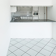 Architecture, Interiors of empty apartment, kitchen view