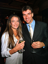 Tennis player ANNABEL CROFT and her husband MR MEL COLEMAN, at a party in London on 6th October 1999.MXG 27