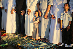 June 15, 2018 - Gaza - Palestinians attend Eid al-Fitr prayers in Khan Younis in the southern Gaza Strip. (Credit Image: © Majdi Fathi/NurPhoto via ZUMA Press)