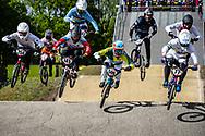#254 (RACINE Romain) FRA, #145 (MALYSHENKOV Pavel) RUS, #500 (REZENDE Renato) BRA and #77 (SAKAKIBARA Kai) AUS at Round 4 of the 2019 UCI BMX Supercross World Cup in Papendal, The Netherlands
