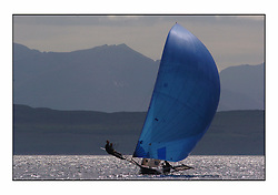 The 2004 Skiff Nationals at Largs held by the SSI.<br /> <br /> Largs Boys helmed by Alan Bunion.<br /> <br /> Marc Turner / PFM Pictures