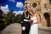Ellen & Ady Wedding outside Lincoln Cathedral