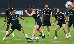 July 30, 2018 - Miami Gardens, Florida, USA - Real Madrid C.F. forward Gareth Bale in action with teammates during an open training session for the International Champions Cup match between Real Madrid C.F. and Manchester United F.C. at the Hard Rock Stadium in Miami Gardens, Florida. (Credit Image: © Mario Houben via ZUMA Wire)