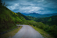 Side road winding along mountains, Dien Bien Don District, Dien Bien Province, Vietnam, Southeast Asia