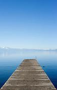 Wooden Dock near Lake Forest Beach, Lake Tahoe, California