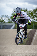 #174 (DEROM Quentin) FRA during practice at Round 3 of the 2019 UCI BMX Supercross World Cup in Papendal, The Netherlands