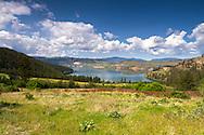 View of Cosens Bay on Kalamalka Lake from Kalamalka Provincial Park near Vernon, British Columbia, Canada