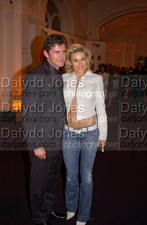 Davor Suker and Diana Jenkins, Fifa 100 private view, Exhibition of photographs of the 125 greatest living players.  Royal Academy, 1 June 2004. ONE TIME USE ONLY - DO NOT ARCHIVE  © Copyright Photograph by Dafydd Jones 66 Stockwell Park Rd. London SW9 0DA Tel 020 7733 0108 www.dafjones.com