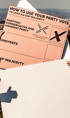 Scottish Conservative leader highlights postal voting, Edinburgh, 15 April 2021