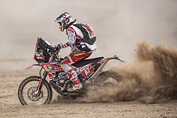 AREQUIPA, Jan. 11, 2019  Marcel Snijders of the Netherlands competes during the 4th stage of the 2019 Dakar Rally Race, near La Joya, Arequipa province, Peru, on Jan. 10, 2019. Marcel Snijders finished the 4th stage with 6 hours 1 minute and 26 seconds. (Credit Image: © Xinhua via ZUMA Wire)