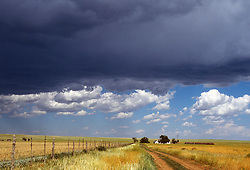 storm clouds over a ranch in New Mexico