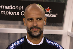 July 25, 2018 - East Rutherford, New Jersey, United States - Pep Guardiola manager of Manchester City attends ICC game against Liverpool FC at MetLife stadium Liverpool won 2 - 1 (Credit Image: © Lev Radin/Pacific Press via ZUMA Wire)