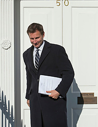 © London News Pictures. 30/04/2012. London, UK. Secretary of State for Culture, Olympics, Media and Sport Jeremy Hunt MP leaving his home in Pimlico, West London on April 30, 2012. Pressure is mounting on David Cameron to start an inquiry into any breaches of the ministerial code by Jeremy Hunt. Photo credit : Ben Cawthra /LNP