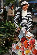 Flower sellers at the Flower Market, Hanoi