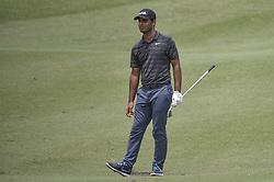 October 12, 2018 - Kuala Lumpur, Malaysia - Shubhankar Sharma of India looks on his shot during the second round of 2018 CIMB Classic golf tournament in Kuala Lumpur, Malaysia on October 12, 2018. (Credit Image: © Zahim Mohd/NurPhoto via ZUMA Press)