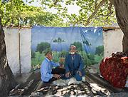 Kurbon Sho (L) and Gul Ayoz (Right). Savnob village.
