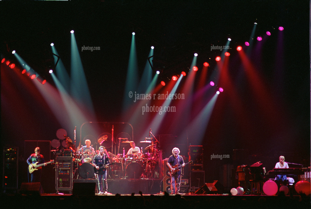 The Grateful Dead perfoming Terrapin Station at the Nassau Coliseum, Uniondale NY, 30 March 1990. Wide Lighting Look Image Capture.