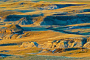 sunrise over Killdeer Badlands (East Block)<br /> Grasslands National Park<br /> Saskatchewan<br /> Canada