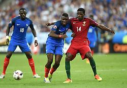 William Carvalho of Portugal battles for the ball with Paul Pogba of France  - Mandatory by-line: Joe Meredith/JMP - 10/07/2016 - FOOTBALL - Stade de France - Saint-Denis, France - Portugal v France - UEFA European Championship Final