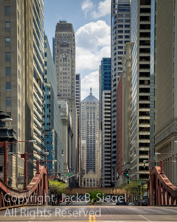 Looking South On LaSalle Street Toward the Board of Trade