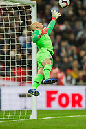 Brad Guzan (GK) (USA/Atlanta United FC) saves the ball during the international Friendly match between England and USA at Wembley Stadium, London, England on 15 November 2018.