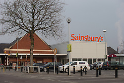 "© Licensed to London News Pictures . 18/03/2015 . Manchester , UK . GV of Sainsbury's supermarket on Regent Road in Salford . Liam Gary Edwards (29) appears at Manchester Magistrates Court this morning (18th March 2015) charged with Causing Racially or Religiously Aggravated Criminal Damage . On 18th February 2015 , stickers reading "" Beware! Halal is barbaric and funds terrorism "" were discovered on products and displays in Sainsbury's supermarket , on Regent Road in Salford . Photo credit : Joel Goodman/LNP"