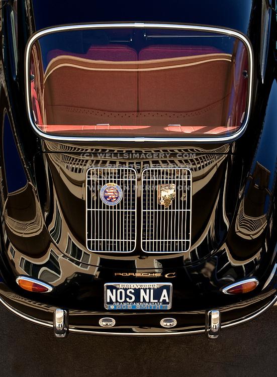 Image of a black Porsche 356 C in Los Angeles, America west coast by Randy Wells