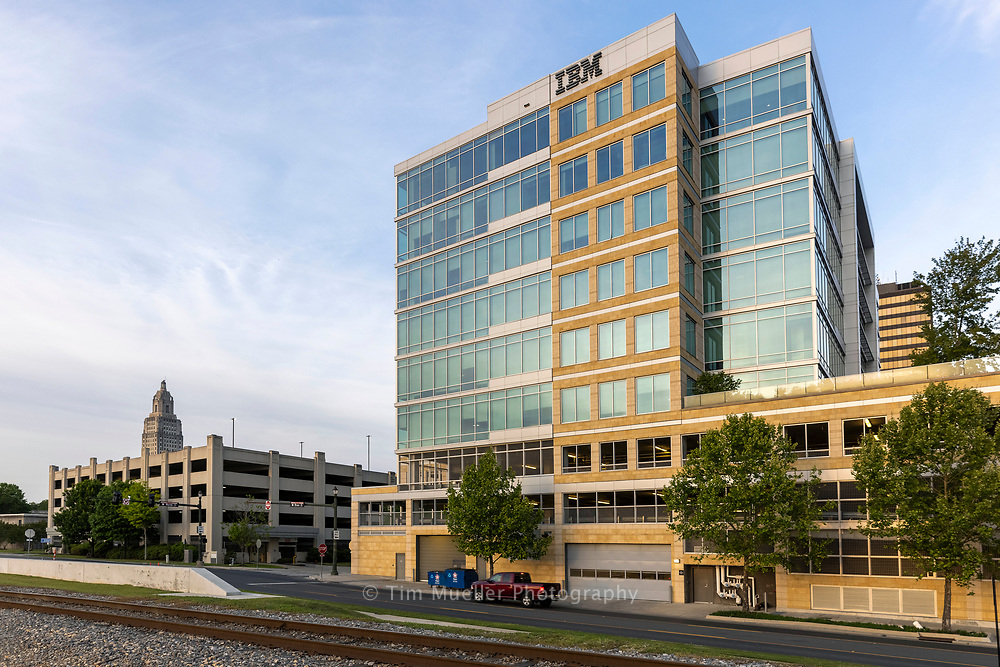 The IBM Complex in downtown Baton Rouge is a high-rise riverfront residential and office space. The complex includes an eleven-story residential tower with 95 river view apartments, nine luxury town homes and an eight-story office tower which is home of the IBM Domestic Delivery Center and the Baton Rouge Area Foundation.