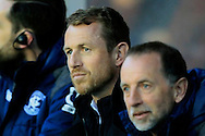 Birmingham City Manager Gary Rowett © looks on. <br /> Sky Bet Football League Championship match, Birmingham City v Brighton & Hove Albion at St.Andrew's Stadium in Birmingham, the Midlands on Tuesday 5th April 2016.<br /> Pic by Ian Smith, Andrew Orchard Sports Photography.