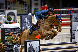 DUGUET Romain (SUI), Bel Canto de Boguin<br /> Grand Prix von Volkswagen<br /> Int. jumping competition over two rounds (1.55 m) - CSI3*<br /> Comp. counts for the LONGINES Rankings<br /> Braunschweig - Classico 2020<br /> 08. März 2020<br /> © www.sportfotos-lafrentz.de/Stefan Lafrentz