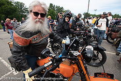 Motorcycle Cannonball coast to coast vintage run. Stage-1 (145-miles) from Portland, Maine to Keene, NH. Saturday September 8, 2018. Photography ©2018 Michael Lichter.