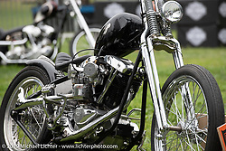 Invited BF11 Canadian builder Curt Bennett's custom Harley-Davidson Shovelhead at the Born Free set-up day before the big show. Oak Canyon Ranch, Silverado, CA, USA. Friday, June 21, 2019. Photography ©2019 Michael Lichter.